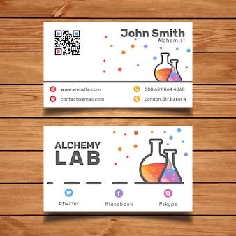 Laboratory business card