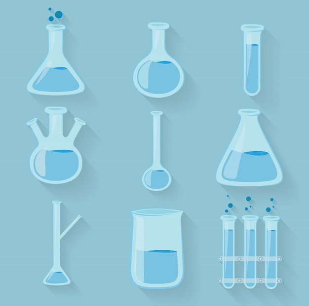 Laboratory chemical bottles glassware