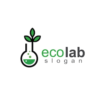 Laboratory and chemical logo template