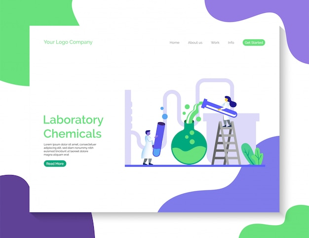 Laboratory chemicals landing page