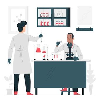 Лабораторная концепция иллюстрации