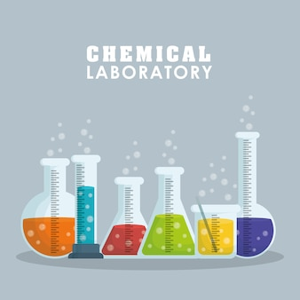 Laboratory concept with chemical icon