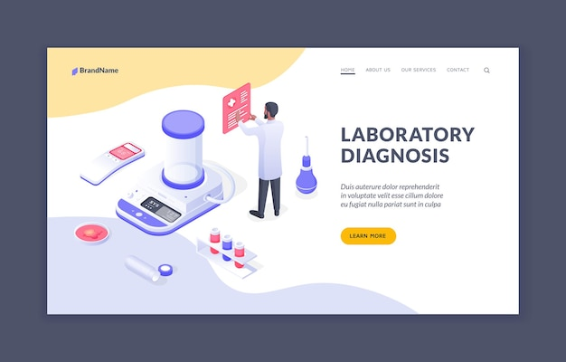 Laboratory diagnosis male doctor working in laboratory