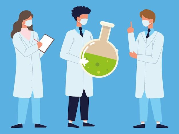 Laboratory doctors beaker fluid chemistry
