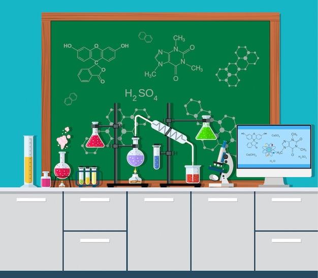 Laboratory equipment, jars, beakers,