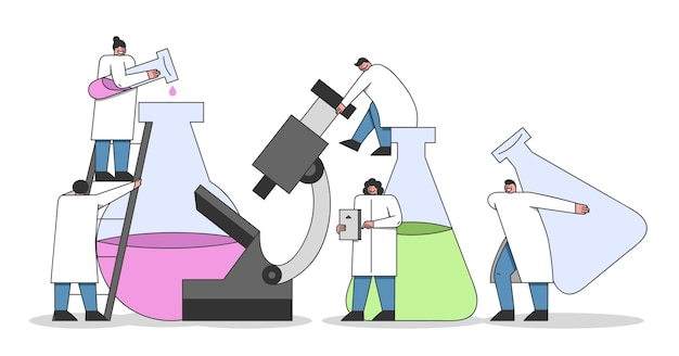 Laboratory experiments concept.