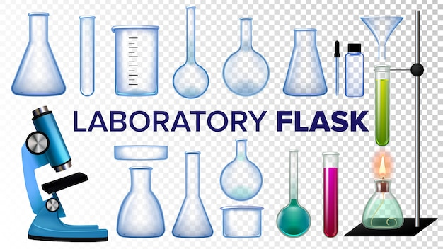 Laboratory flask set