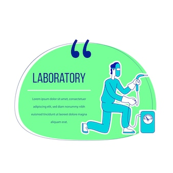 Laboratory flat character quote