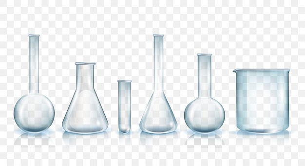 Laboratory glassware vector illustration set