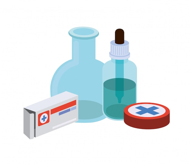 Laboratory instruments with medicines isolated