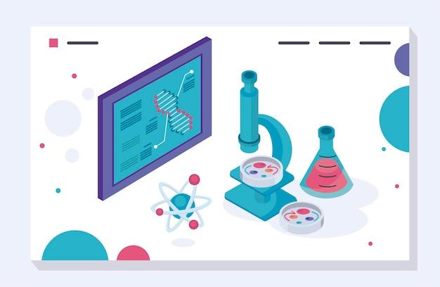 실험실 현미경 및 튜브