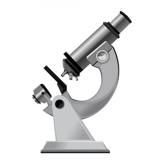 白で隔離される実験室用顕微鏡