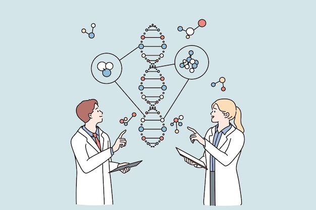 Laboratory research and genetic engineering concept
