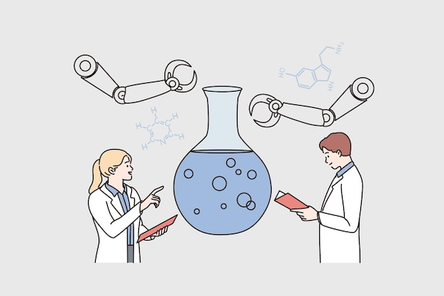 Laboratory research and science concept