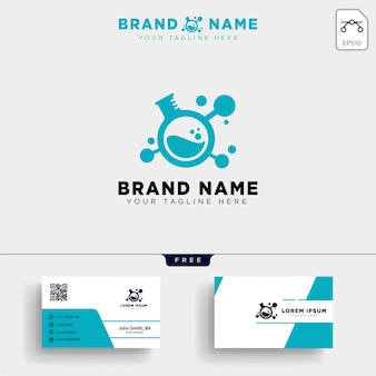 Laboratory share technology logo template and business card