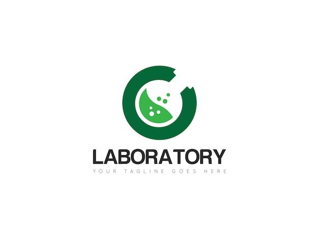 Laboratory tube logo, icon, symbol, template