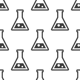 Laboratory, vector seamless pattern, editable can be used for web page backgrounds, pattern fills