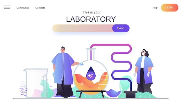 Laboratory web concept for landing page