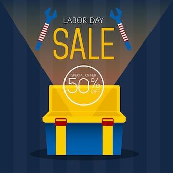 Laborday sale illustration