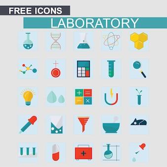 Labortory icons set