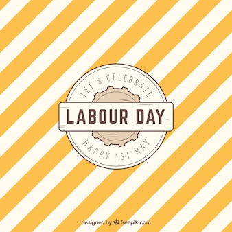 Labour day background with pattern in vintage style