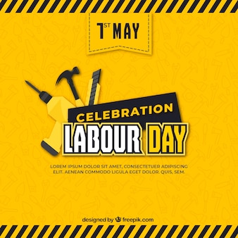 Labour day background with tools