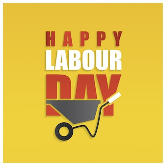 Labour day background with wheelbarrow