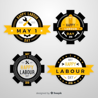 Labour day badge collection