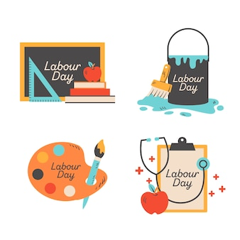 Коллекция значков дня труда