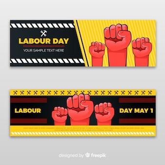 Labour day banners