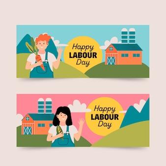 労働者の日のバナー