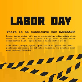 Labour day card with creative design and yellow background