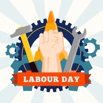 Labour day event flat design