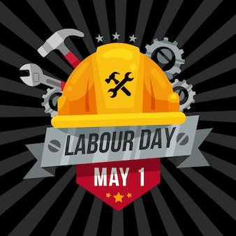 Labour day flat design