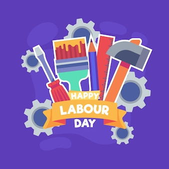 Labour day in flat design