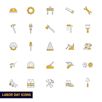 Labour Day icon set