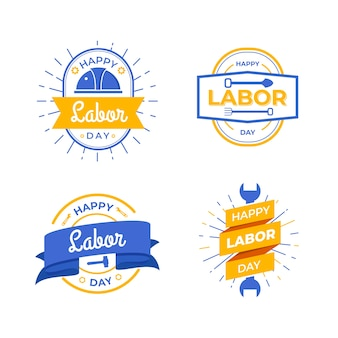 Labour day label collection theme