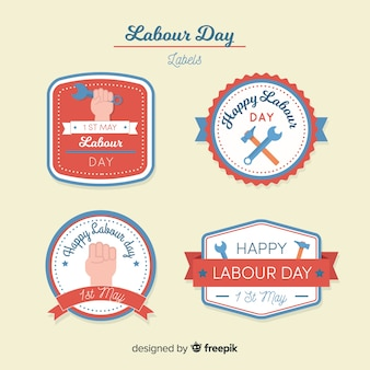 Labour day label collection