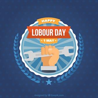 Labour day logo background