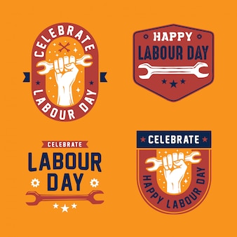 Labour day logo badge