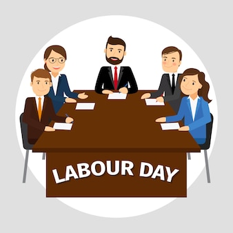 Labour day poster illustration
