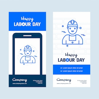 Labour day usa banner