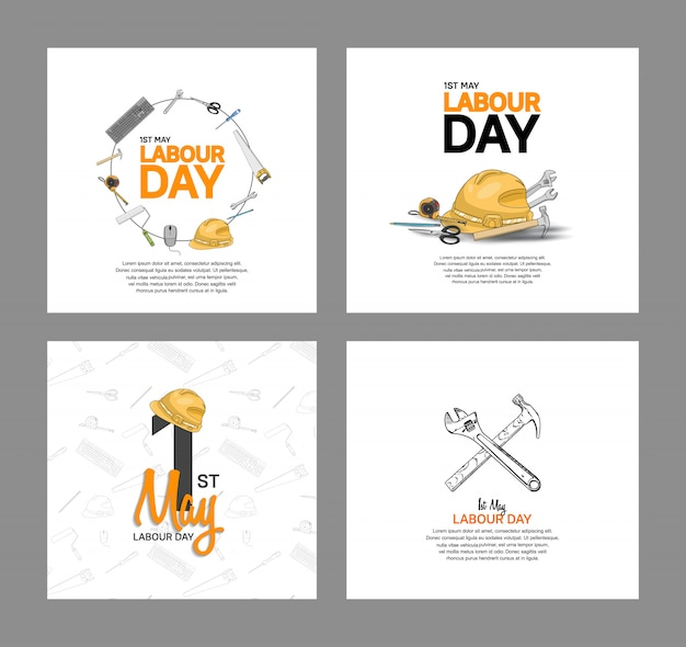 Labour day vector design poster