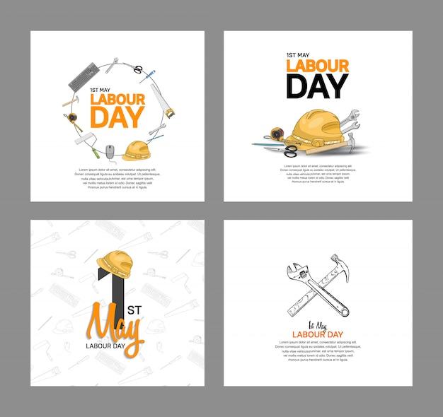 労働者の日ベクターデザインポスター