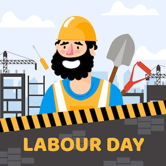 Labour day with worker