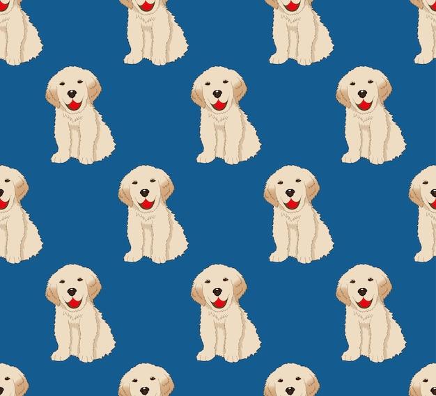 ラブラドールゴールデンレトリーバー犬シームレス