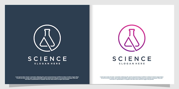 Labs logo with creative element style premium vector part 1