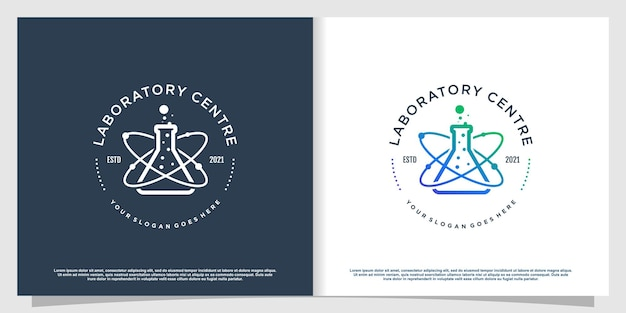 Labs logo with creative element style premium vector part 2