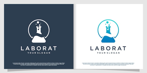 Labs logo with creative element style premium vector part 3