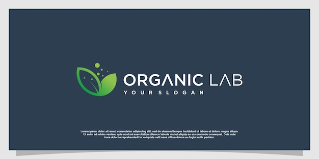 Labs logo with creative element style premium vector part 4